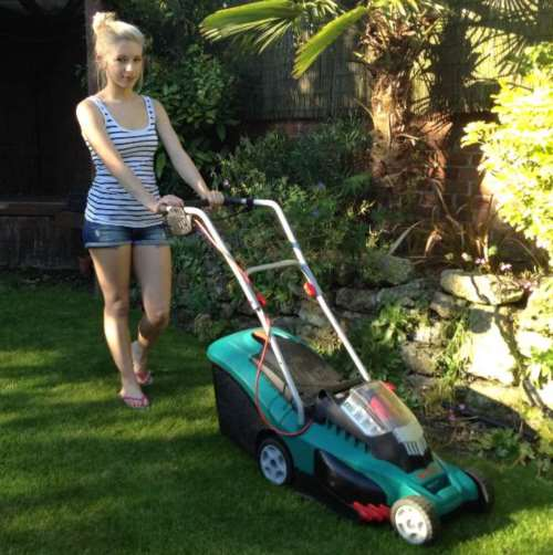 Cordless lawnmowers tested and reviewed by fred in the shed for Small lawnmower shed